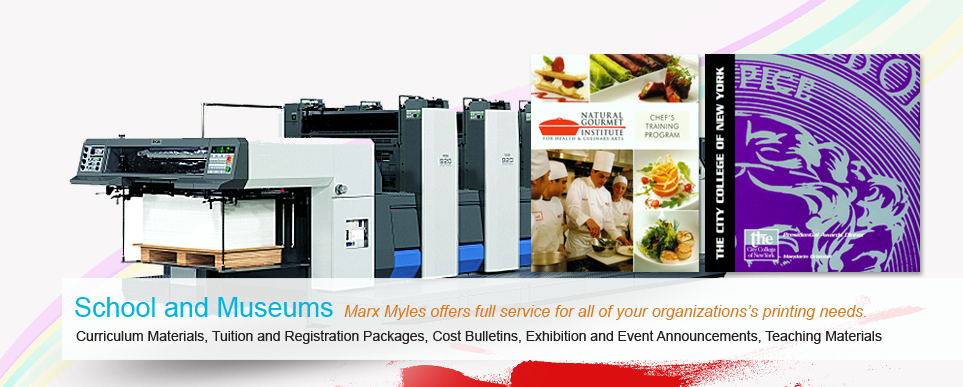 NYC printing companies - Schools & Museums